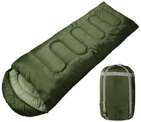 FOBHIYA  Sleeping Bag,Portable and Lightweight for 2-3 Season Camping, Hiking, Traveling, Backpacking and Outdoor Activities (Green)