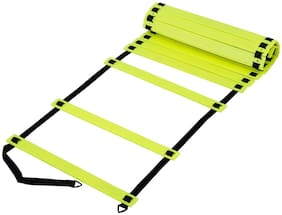 Foricx Brand New Speed Agility Ladder 6 m Long with 15 Adjustable Flat Rungs With Carry Bag Quickness Training Faster Footwork & better Movement Skills, Exercise Workout Ladder for Football