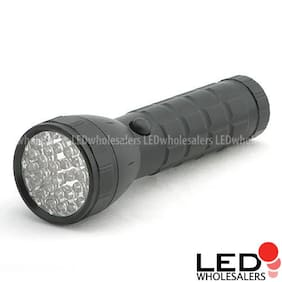 Free Shipping 32 Led Black Police Flashlight + Holster