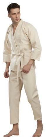 Full Plain Martial Arts Judo Neck V Shape Original Heavy Cotton Top Pant Martial Arts Dress Suit