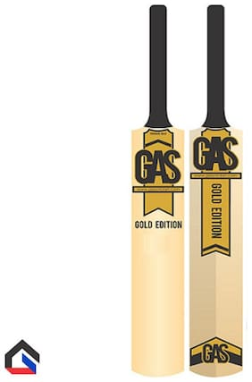 Gas Gold Edition Cricket Tennis Bat (Size -5) With Tennis Ball