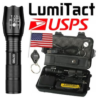 Genuine Lumitact G700 L2 LED Tactical 18650 Flashlight Military Grade Torch set