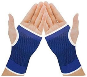 Glove Hand Grip Support Protector Brace Sleeve Support Gym & Fitness Gloves (Free Size  Multicolor)