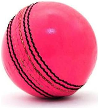 GLS Genuine Leather 2 Piece Natural Pink Cricket Ball Standard Size 5.5 - Pack of 1