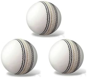 GLS Genuine Leather 4 Piece Cricket Ball Standard Size 5.5 - Pack of 3