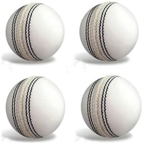 GLS Genuine Leather 4 Piece Cricket Ball Standard Size 5.5 - Pack of 4