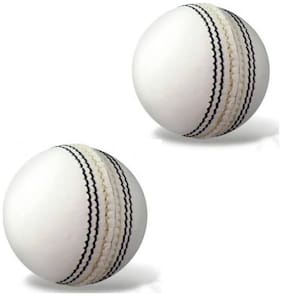 GLS Genuine Leather 4 Piece Cricket Ball Standard Size 5.5 - Pack of 2