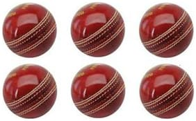 GLS Genuine Leather 4 Piece Cricket Ball Standard Size 5.5 - Pack of 6