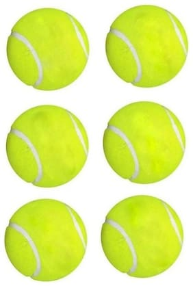 GLUCKLICH CRICKET GREEN BEST BALL,TENNIS BALL,CRICKET BALL,PACK OF 6
