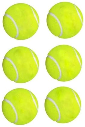 GLUCKLICH GREEN CRICKET BALL/TENNIS BALL/BALL/PACK OF 6