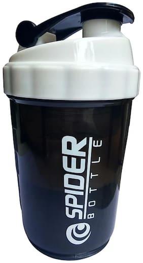 GLUCKLICH GYM SHAKER BOTTLE/BOTTLE/SIPPER/BLACK AND WHITE/500 ML