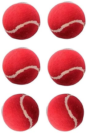 GLUCKLICH SPORTS CRICKET RED BALL,TENNIS BALL,BALL,PACK OF 6