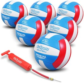GoSports Soft Touch Recreational Volleyball 6 Pack, No Sting For Kids and Adults