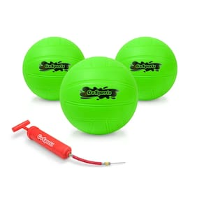 GoSports Water Volleyball 3 Pack   Great for Kids Swimming Pool Volleyball Games