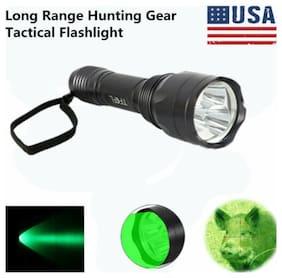 Green Torch Light Night Hunting 300 yards long range 650 lumens Flashlight US