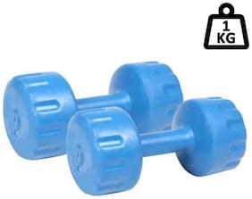 Griffin Rubber Plastic Dumbbell set ( Set of 2 , 1 kg )
