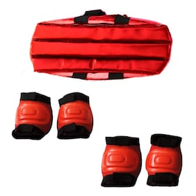 Gurnoor Creation 3 in 1 Skating Kit with Knee/Elbow or Head Protection for Cycling & Roller Skating (Set of 1) Assorted Color