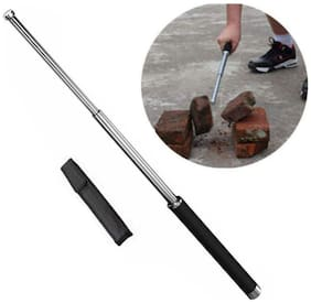 Gurnoor Creation Heavy Duty Self Defence Stick with 2 Fold Open/Close and Rust Free Material (1Pc) Assorted Color