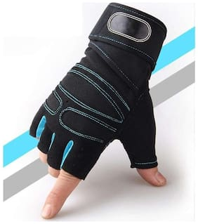 Gym Gloves Weight lifting wrist support Gym & Fitness Gloves (Free Size, Red, Black)