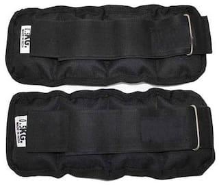 GymWar Adjustable (1 pair) 1 kg each universal running & Jogging Ankle weights Black Ankle & Wrist Weight (1 kg)