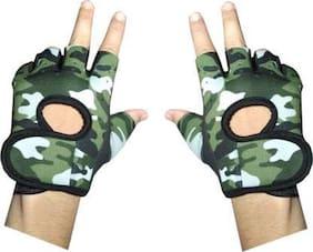 GymWar ARMY GYM GLOVES Gym & Fitness Gloves (Green)