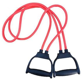 GymWar Double Tube Medium Resistance Toning Resistance Band-Red