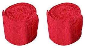 Gymwar Fitness Accessories Equpment ULTIMATE WEIGHT LIFTING STRAPS FOR PROFESSIONAL WORKOUT 2 PCS SET Hand Grip/Fitness Grip (Red)