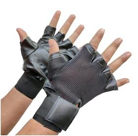 Gymwar Fitness Accessories Equpment GYM GLOVES BLACK Gym & Fitness Gloves (Black)