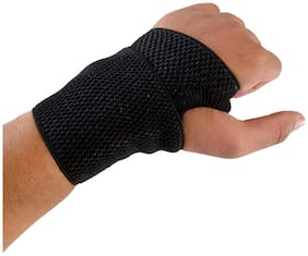 GymWar Fitness Accessories Equpment WRIST SUPPORT GYM SUPPORTER 2Pc Wrist Support (Black)