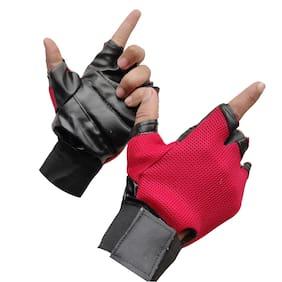 Gymwar GYM GLOVES Gym & Fitness Gloves (Red)