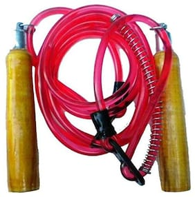 Gymwar Skipping Rope with Comfortable Grip Freestyle Skipping Rope (Red)