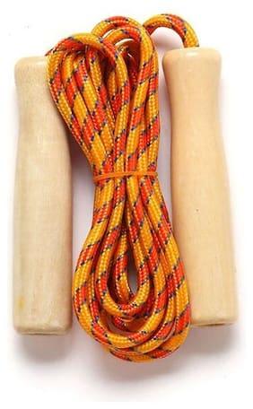 GymWar Wooden Grip Skipping Rope
