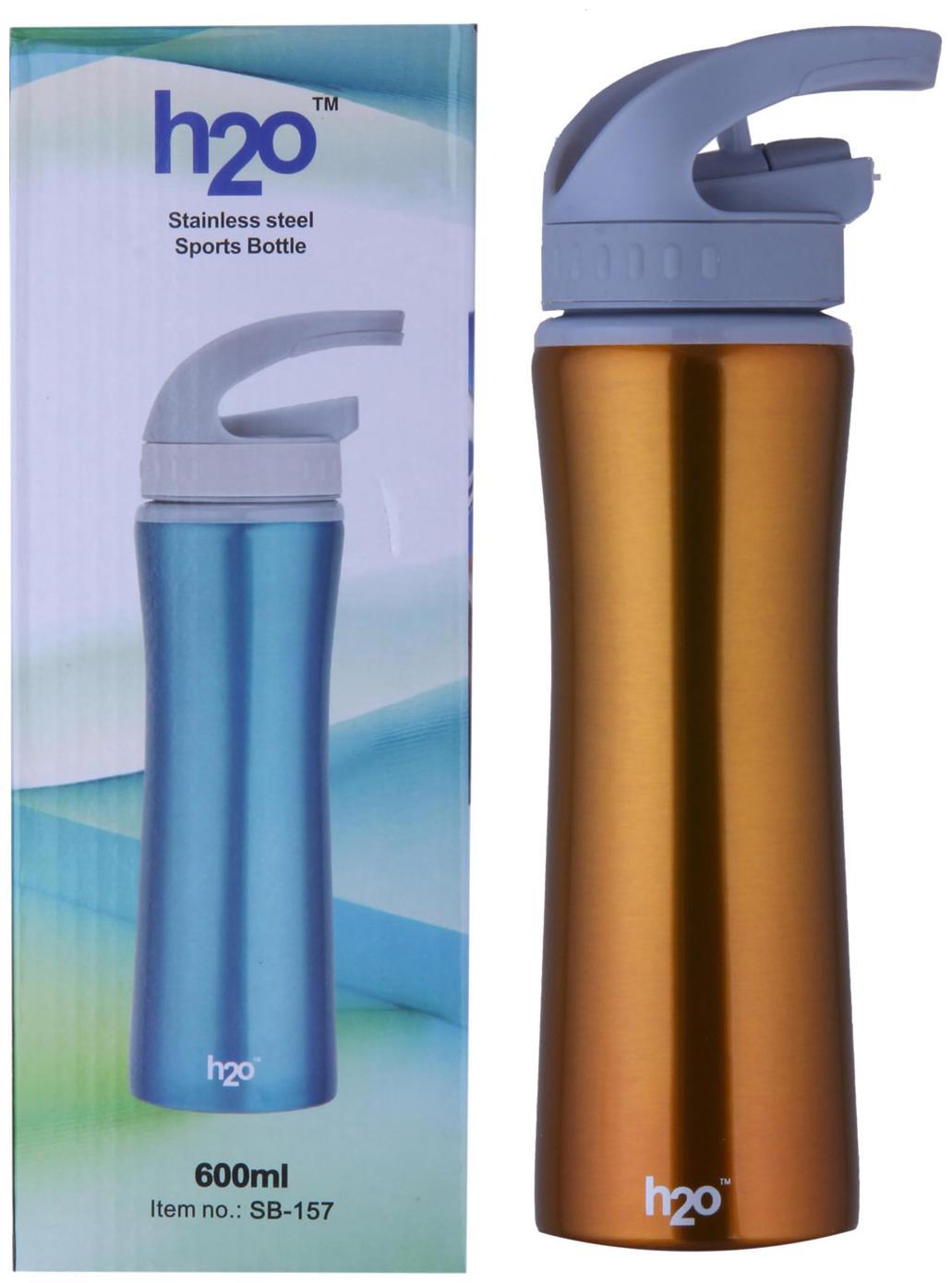 H2O SB 157/3 Stainless Steel Sports Bottle 600 ml
