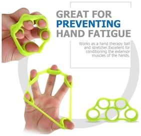 Hand Strengthener Finger Stretcher Hand Resistance Bands Hand Extensor Set Silicone Hand Grip Trainer Rings Finger Exerciser Workout For Sports