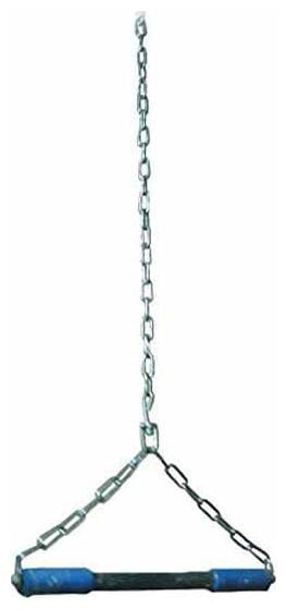 Hanging Rod Height Increaser and Pull Ups Exercise with Heavy Chain Rod and Foam Grip