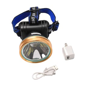 Headlight Torch Lamp USB Rechargeable Head-Mounted Waterproof Flashlight Camping