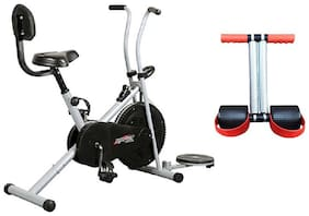 HEALTHEX GYM FITNESS CYCLE 1001 WITH BACK SEAT AND TWISTER || BONUS TUMMY TRIMMER FOR HOME USE