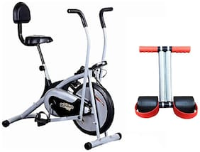 HEALTHEX HX300 PLATINUM EXERCISE BIKE WITH BACK SEAT || MOVING HANDLE || BONUS TUMMY TRIMMER FOR HOME USE