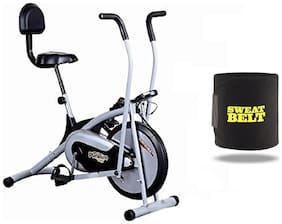 HEALTHEX HX300 PLATINUM EXERCISE BIKE WITH BACK SEAT || MOVING HANDLE || BONUS SWEAT BELT FOR HOME USE