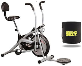 HEALTHEX HX300 FITNESS BIKE PLATINUM WITH BACK SEAT AND TWISTER || MOVING HANDLE || BONUS SWEAT BELT FOR HOME USE