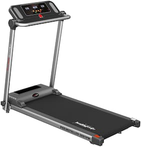 Healthgenie Pre Install Motorized Treadmill 3691PM 1HP (2.5 HP at Peak) Light Weight & Foldable for Home Use & Fitness Enthusiast;Max Speed 10 Kmph.