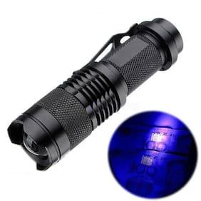 High Powered UV Lamp Black Light Ultra Violet Flashlight 395nm 5W LED Aluminum