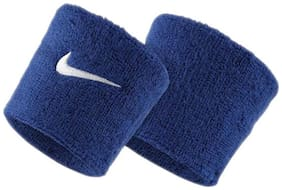 High Quality Sports Wrist Band Supporter Sweat Band-Blue (1 Pair)