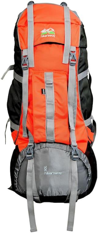 Hiker's Way Orange Backpack & Hiking bag