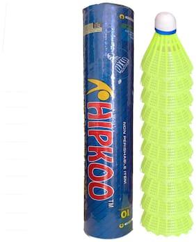 HIPKOO AERO PLASTIC SHUTTLECOCK ( 10 pcs )