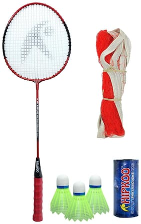 Hipkoo Bullet HR 14 Badminton Combo With Badminton Bag Badminton Kit