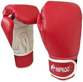 Hipkoo Fitness Boxing Gloves (Size 10 Oz) Boxing Gloves (M, Red)