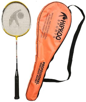 Hipkoo Wide Body Professional Racket With Cover(1 Racket) Strung Badminton Racquet