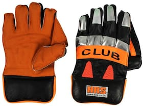 HRS Club Wicket Keeping Gloves (Men;Multicolor)