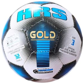 HRS Gold B/W Football - Size: 3